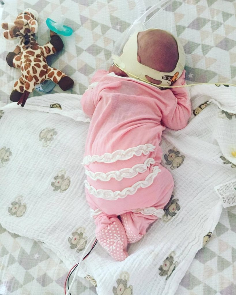 Baby Quinn in pink